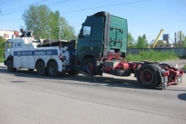 Эвакуация грузового тягача